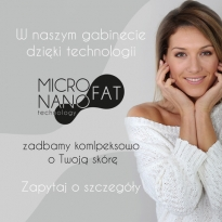 Information on the offer of the Dr Pard clinic regarding treatments from the MICRO & NANO FAT series